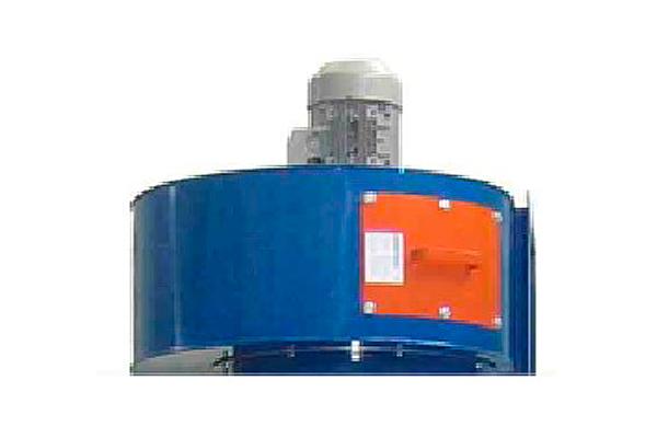 Вентилятор во взрывобезопасном исполнении для покрасочной камеры